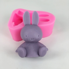 BK1071 Mifei rabbit aromatherapy gypsum mold silica gel soap mould