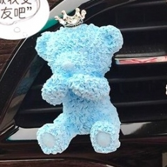 BK1055 Teddy Bear Silicone Mold Aroma plaster mold car cartoon cover mouth bear mold