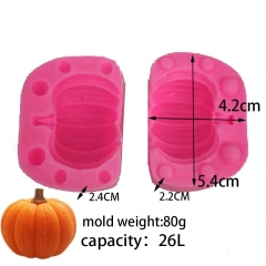 Bk1191 stereo Pumpkin Halloween Pumpkin Mousse Cake silicone mold candle