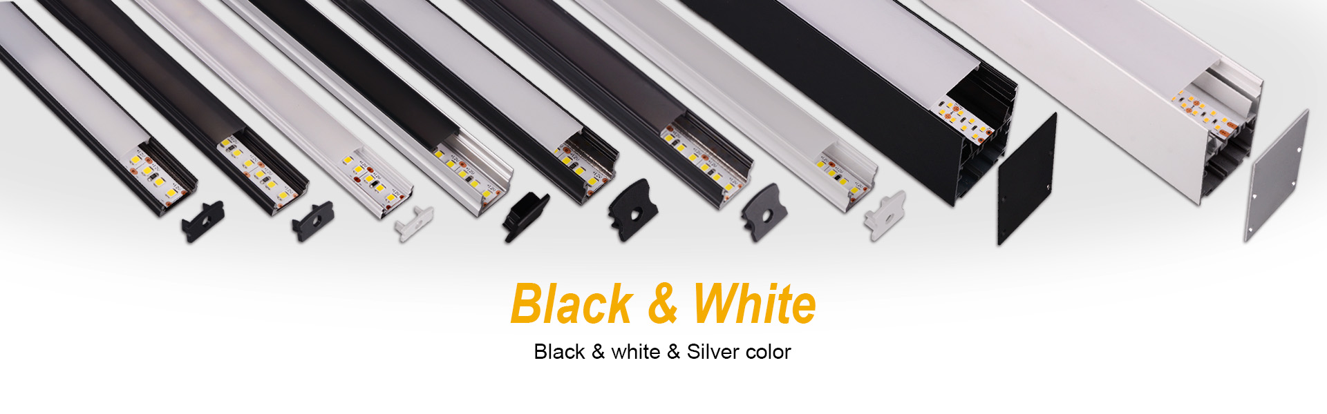 Black & White Aluminum Profile