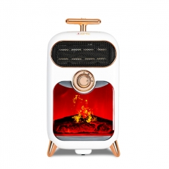 Fireplace Fan Heater With Simulation 3D Flame