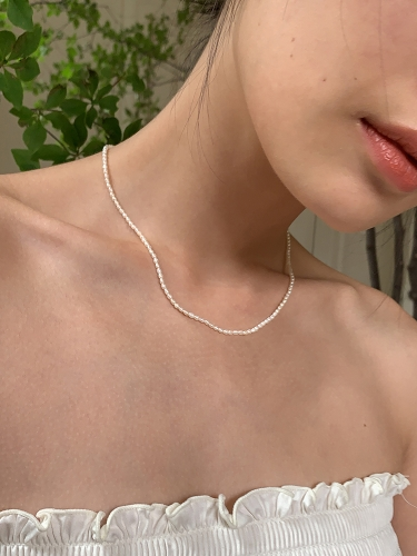 Millet pearl necklace