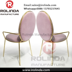 Pink color luxury  style china cheap  dining chairs