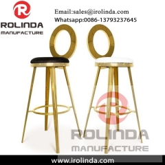 High quality modern stainless steel gold baroque chair for sale