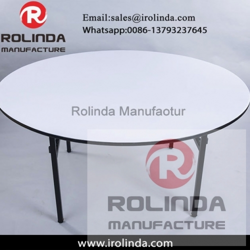 Wholesale Hotel Folded Round Wooden Banquet Table