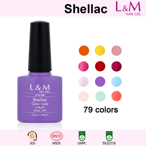 【COLOR COAT】L&M Shellac Soak-off UV Gel Nail Polish