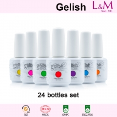 【24 BOTTLES SET】15ML IDO Gelish Soak-off Gel Nail Polish