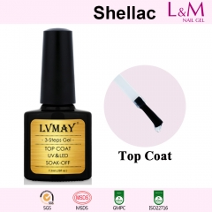 【TOP COAT】L&M Shellac Soak-off UV Gel Nail Polish