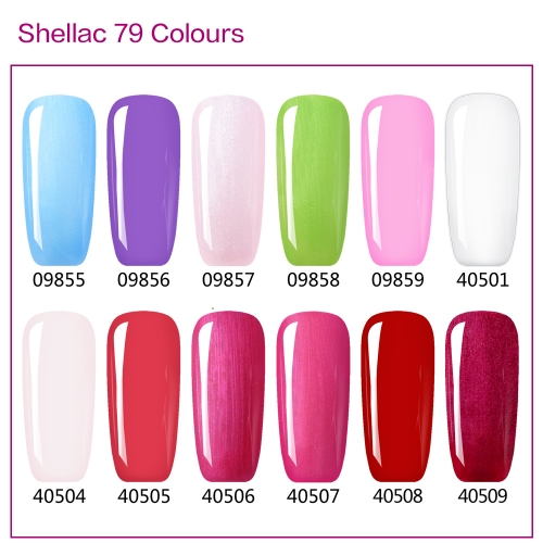【color chart show only 】shellac 79 Colors