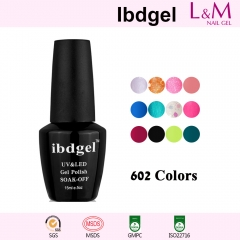【COLOR GEL】IBDGEL Soak-off UV Gel Nail Polish 610 Colors For Choose