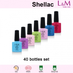 【40 BOTTLES SET】L&M Shellac Soak-off UV Gel Nail Polish