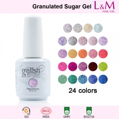 【GRANULATED SUGAR SERIES】IDO Gelish Granulated Sugar Soak-off Gel Nail Polish