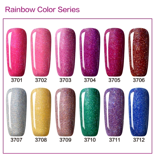 【color chart show only 】Rainbow Gel