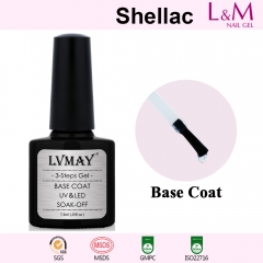 【BASE COAT】L&M Shellac Soak-off UV Gel Nail Polish