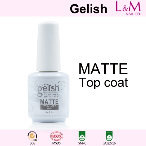 【MATTE TOP COAT】IDO Gelish Soak-off Gel Nail Polish