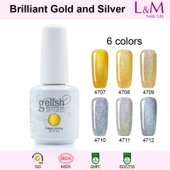 【Brillant Gold and Silver SERIES】IDO Gelish Brillant Gold and Silver Series Soak-off Gel Nail Polish