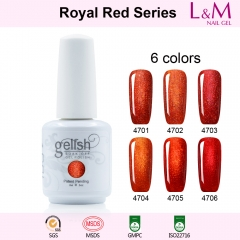 【Royal Red SERIES】IDO Gelish Royal Red Series Soak-off Gel Nail Polish