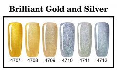 【color chart show】New Series Brilliant Gold and Silver