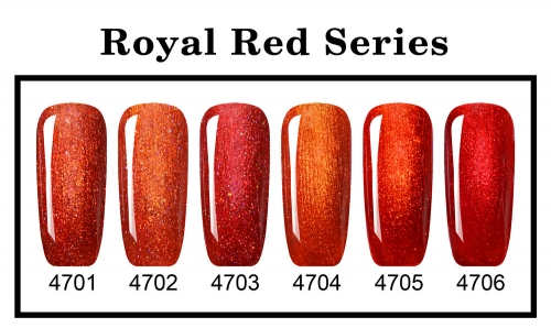 【color chart show】New Series Royal Red Series
