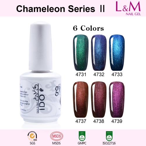 【Chameleon Series Ⅱ 】1pc Shinning Bright Gel Nail Polish 12 Colors For Choose