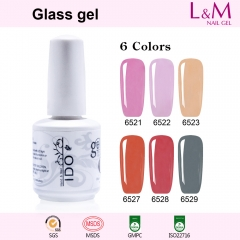 【Glass Gel】1pc UV Nail Gel Polish 12 Colors For Choose
