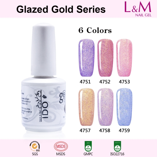 【Glazed Gold Series】1pc UV Nail Gel Polish 12 Colors For Choose