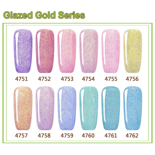 【color chart show】Glazed Gold Series