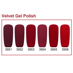 【color chart show】Red Series Velvet Gel Polish