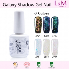 【Galaxy Shadow Series】1pc Soak-off UV Gel Nail Polish 6 Colors For Choose