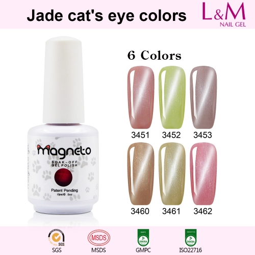 【Jade Cat's Eye Colors】1pc UV Nail Gel Polish 12 Colors For Choose