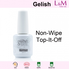 【NO-WIPE-TOP-IT-OFF】IDO Gelish Soak-off Gel Nail Polish