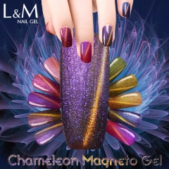 【12 BOTTLES SET】Chemeleon Magneto Soak-off Gel Nail Polish 12 Colors For Choose