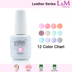 【LEATHER SERIES】IDO Gelish Leather Series Soak-off Gel Nail Polish