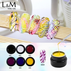 【Elastic Line Painting Gel】1pc UV Nail Gel Polish 6 Colors For Choose