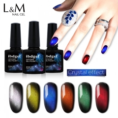 【Gem Cat Eyes Gel】1pc UV Nail Gel Polish 6 Colors For Choose