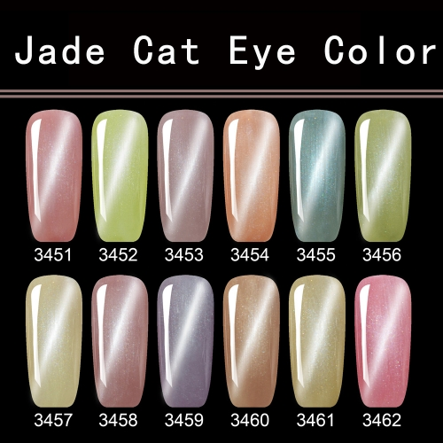 【color chart show】Jade Cat's Eye Colors