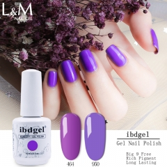 【84 Colors Series Gel Polish 】ibdgel White Bottle Color Gel Polish  84 High Pigment Colors Gel Nail Polish Long Lasting