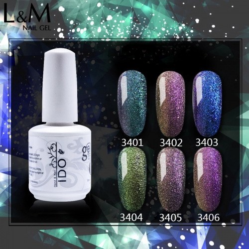 【Chameleon Gel】IDO Gelish ibdgel Soak Off Gel Polish UV Gel Lak for Manicure 15ml