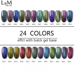 【CHAMELEON GEL】ibdgel white bottle Soak-off Gel Nail Polish 24 Color For Choose