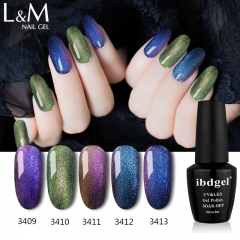 【CHAMELEON GEL】ibdgel Black Bottle Soak-off Gel Nail Polish 24 Chameleon Color For Choose