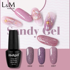 【Sandy Color Gel Polish 】ibdgel IDO gelish Sandy Glazed Nail Gel Polish Shimmer Morandi Color GelLak 15ml