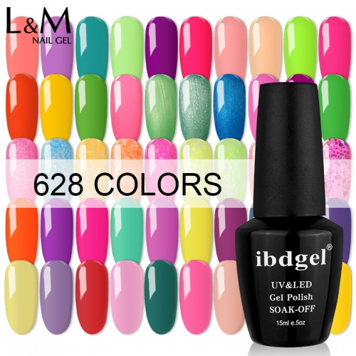 【628 Color Series 】ibdgel 628 Colors Soak-off UV Gel Nail Polish 15ml