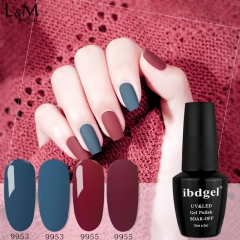 【Morandi Color Cdel 】15ML ibdgel Black Bottle Soak-off Gel Nail Polish Perfect Autumn Winter Color Gel Lak