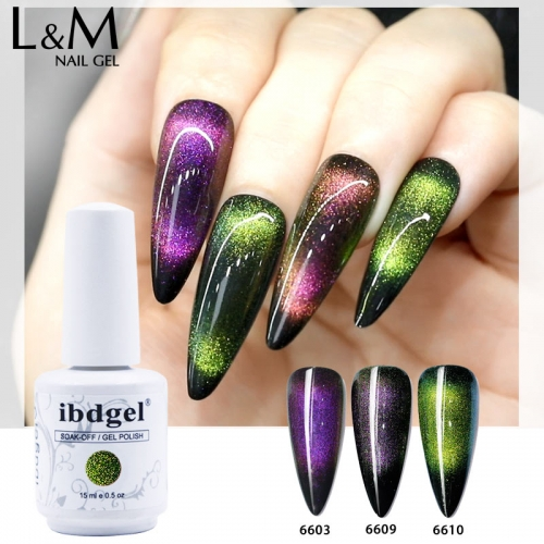 【9D Cat Eyes Gel 】1pc ibdgel Galaxy 9D Cat Eyes Gel Polish 10 Colors for Choice