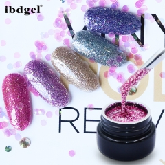 【ibdgel Platinum Color Gel 】1pc Glitter Platinum Gel Polish Shiny 18 Colors UV Nail Gel Polish in Jar