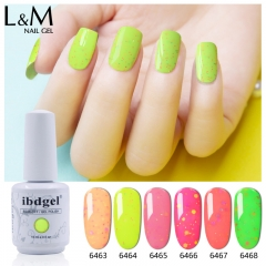 【Candy Cheese Series 】ibdgel White Bottle Candy Cheese 15ml Soak-off Gel Nail Polish 36 Colors for Choice