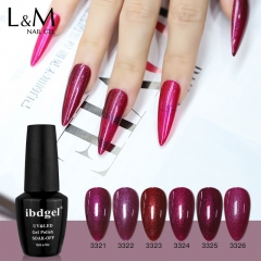 【Shinning Purple Color Gel Polish】ibdgel Purple Pink Shimmer Nail Gel Polish 12 Colors Gel Varnish for Manicure