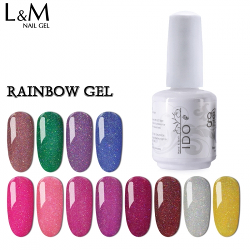 【RAINBOW SERIES】IDO Gelish Rainbow Series Soak-off Gel Nail Polish
