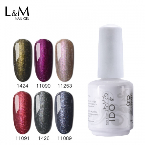 【 Forest Glitter Color】IDO Gelish Twilight Glitter Forest Color Series Gel Polish 12 Colors for Choice