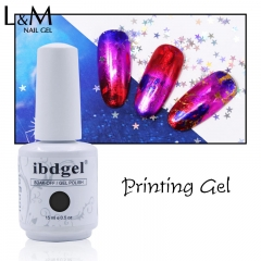 【Transfer Gel】ibdgel Adhesive Glue Starry Sky Sticker Transfer Glue Gel Environmental Manicure Printing Gel Polish 15ml